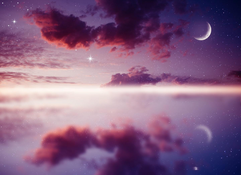 Neumondin im Zeichen Krebs inkl. Mondgebet –  von Maja